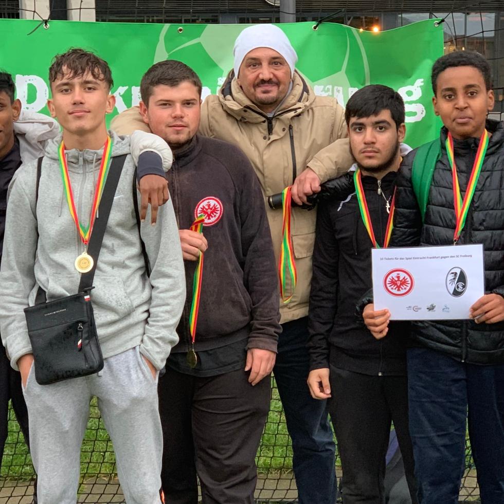 Bolzplatzliga mit Aliaddin Ali Bahar in Frankfurt